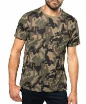 Originele soldaten leger carnavalskleding camouflage shirt heren