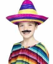 Originele sombrero hoeden gekleurd kinderen carnavalskleding