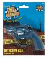 Originele speelgoed politie revolver carnavalskleding