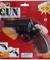 Originele speelgoed politie revolver zwart carnavalskleding