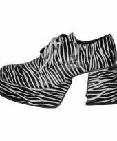 Originele super zebra schoen carnavalskleding
