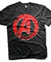 Originele the avengers embleem shirt heren carnavalskleding
