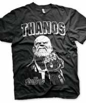 Originele the avengers thanos shirt heren carnavalskleding