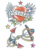 Originele tijdelijke tatoeage gekleurd zeeman thema carnavalskleding