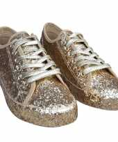 Originele toppers gouden glitter disco sneakers schoenen dames carnavalskleding