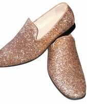 Originele toppers gouden glitter pailletten disco instap schoenen heren carnavalskleding