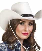 Originele toppers witte cowboyhoed wichita dames carnavalskleding
