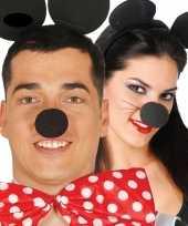 Originele verkleed neus minnie zwart carnavalskleding