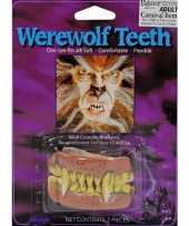 Originele weerwolfen gebitje carnavalskleding
