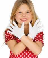Originele witte verkleed handschoenen kinderen carnavalskleding