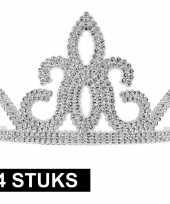 Originele x prinsessen tiara zilver dames carnavalskleding 10145252