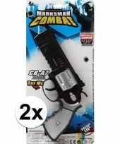 Originele x stuks politie militair speelgoed pistolen carnavalskleding