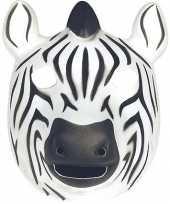 Originele zebra masker soft foam materiaal carnavalskleding