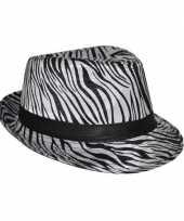 Originele zebra print hoeden carnavalskleding