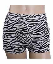 Originele zebra print hotpants dames carnavalskleding