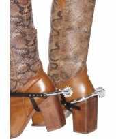 Originele zilveren cowboy sporen carnavalskleding
