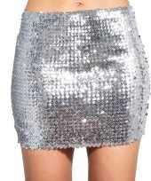 Originele zilveren glitter pailletten disco rokje dames carnavalskleding