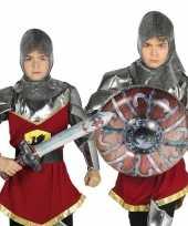 Originele zilveren ridder set opblaasbaar carnavalskleding 10099727