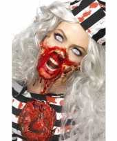 Originele zombie latex make up set carnavalskleding
