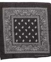 Originele zwarte bandana zakdoek carnavalskleding