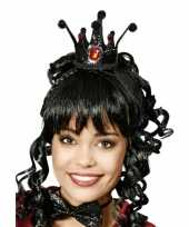 Originele zwarte kroon een prinses carnavalskleding