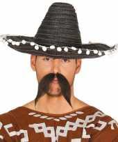 Originele zwarte sombrero mexicaanse hoed volwassenen carnavalskleding