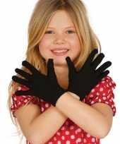 Originele zwarte verkleed handschoenen kinderen carnavalskleding