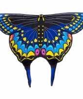 Originele zwarte zwaluwstaartvlinder vleugels kids carnavalskleding