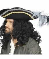 Piraten kapitein hoed zwart deoriginele carnavalskleding